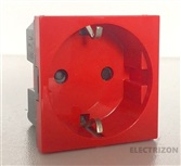 BASE DE ENCHUFE SIMPLE ROJA 2P+T LEGRAND